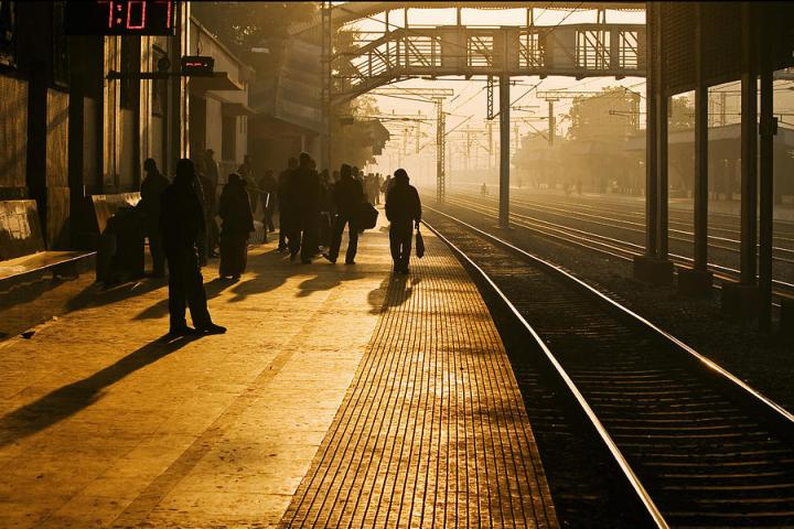 Photo: The Early Morning Commute by Arindam Sen
