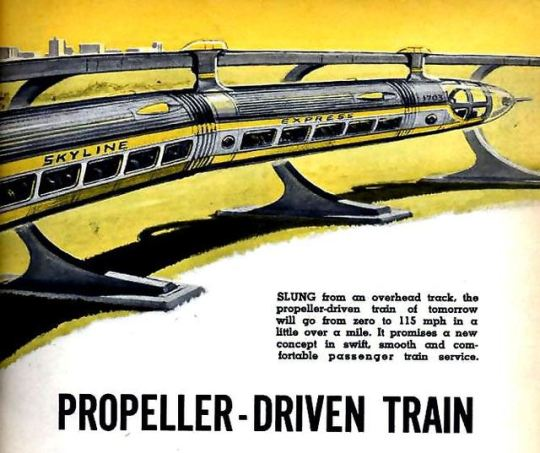 The Skyline Express, PROPELLER-DRIVEN TRAIN (Dec, 1958)