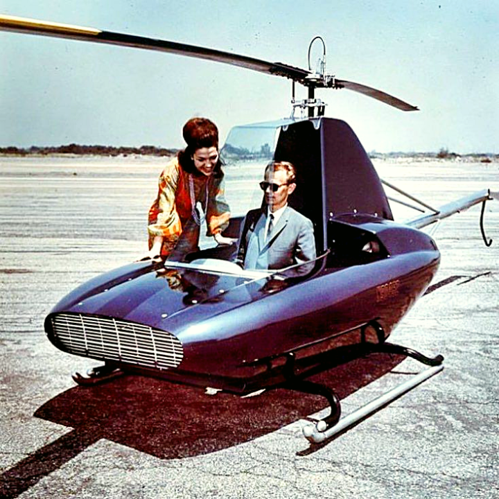 Rotorway Javelin personal helicopter, 1965